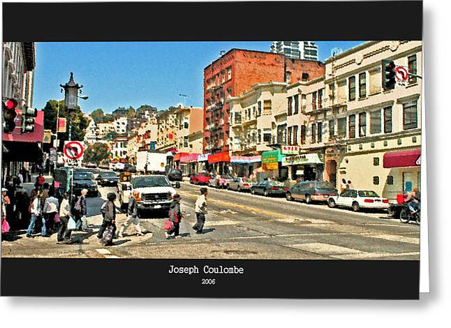 Urban Cross Walks Greeting Card by Joseph Coulombe