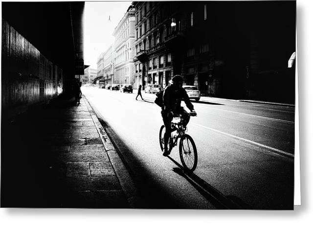 Urban Cyclist Greeting Card