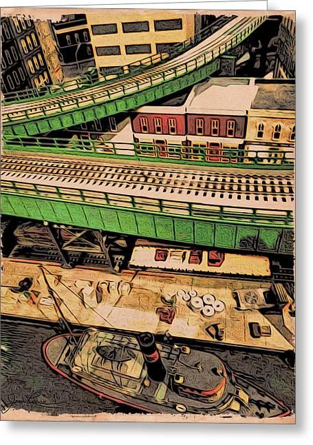 Urban Dock Greeting Card