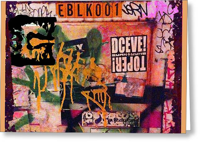 Urban Graffiti Abstract 4 Greeting Card by Tony Rubino