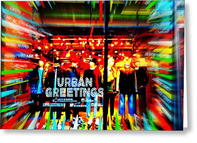 Urban Greetings In London Greeting Card by Funkpix Photo Hunter