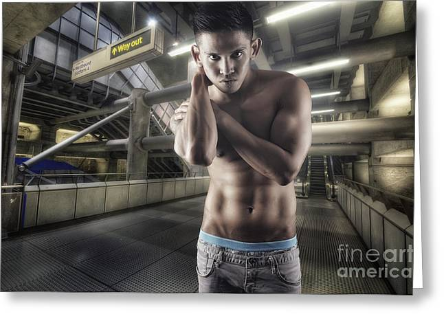 Urban Hunk 1.0 Greeting Card