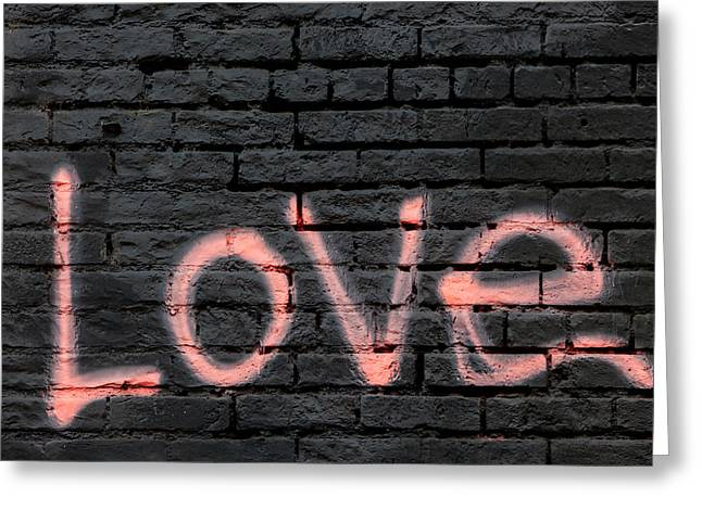 Urban Love Greeting Card by Art Block Collections