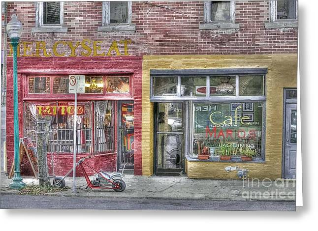 Urban Mercyseat Oil Painting Greeting Card by Liane Wright