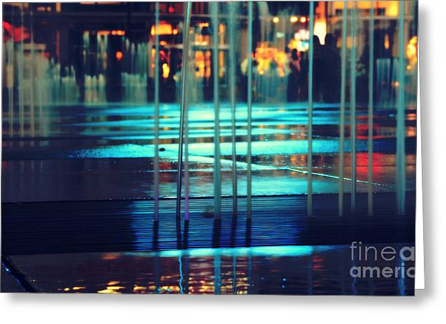 Urban Night Life Greeting Card