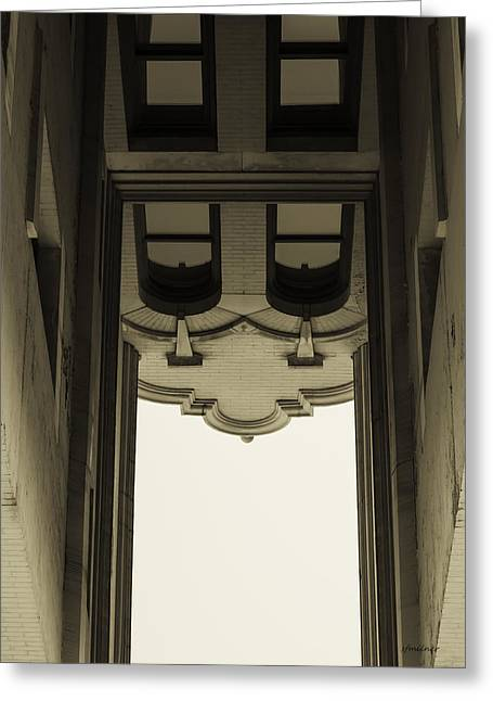 Greeting Card featuring the photograph Urban Portals - Architectural Abstracts by Steven Milner