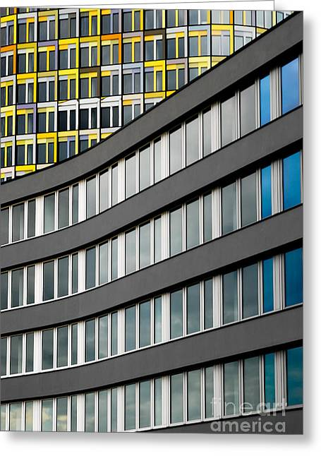 Urban Rectangles Greeting Card by Hannes Cmarits