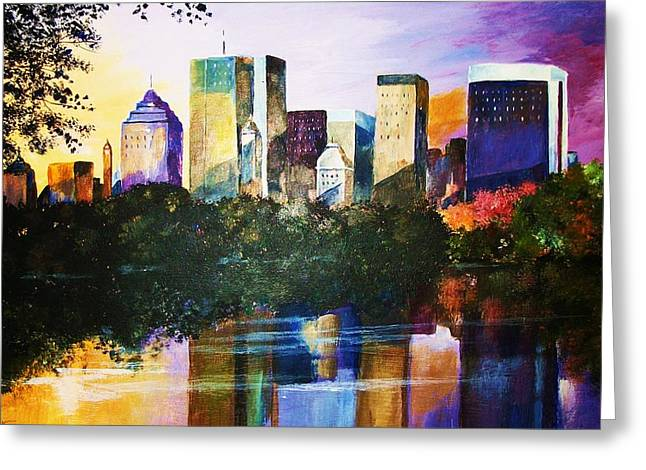 Urban Reflections Greeting Card