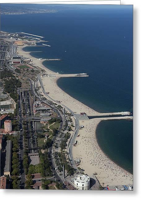 Urban Shores, Barcelona Greeting Card by Jordi Todó