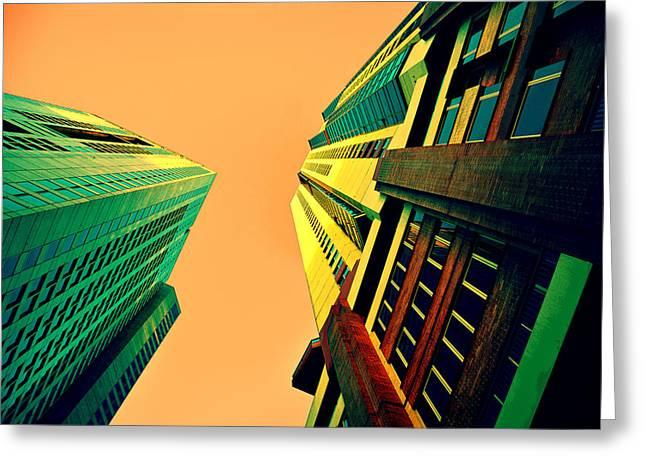Urban Sky Greeting Card by Andrei SKY