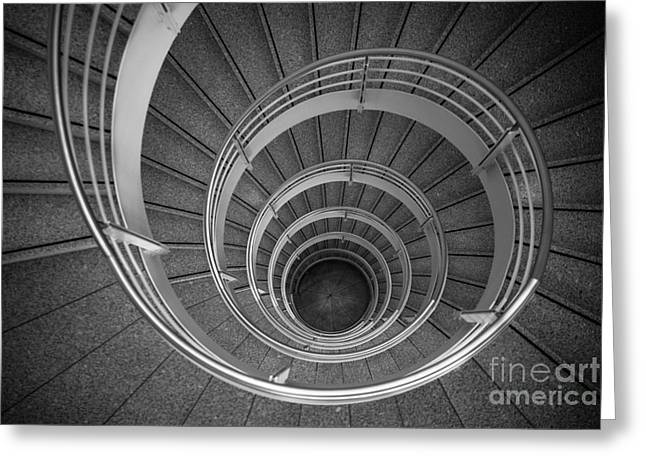 urban spiral - gray II Greeting Card by Hannes Cmarits