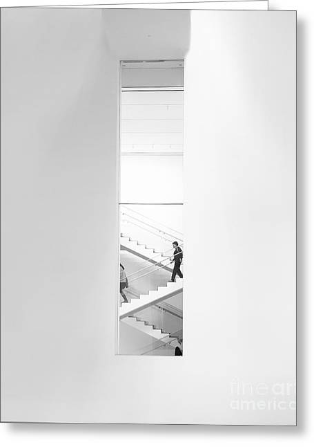 Urban Staircase Greeting Card by George Oze