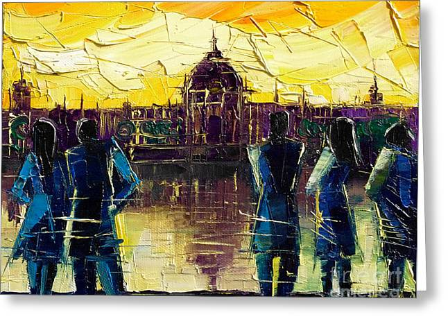 Urban Story - Hotel-dieu De Lyon Greeting Card by Mona Edulesco