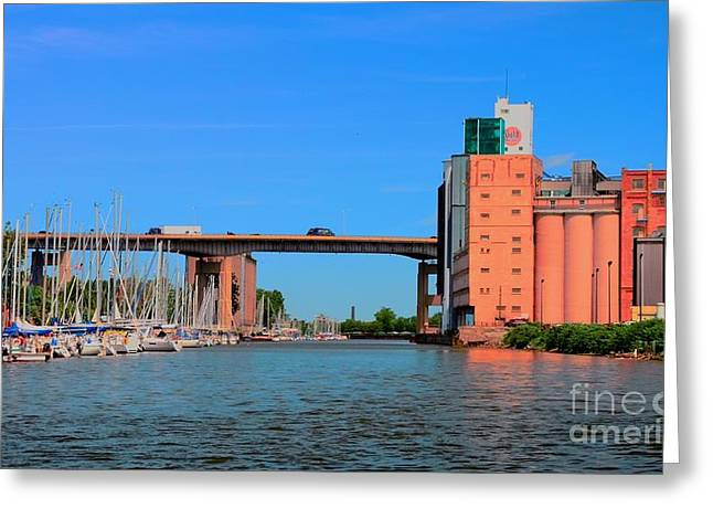Urban View Greeting Card by Kathleen Struckle