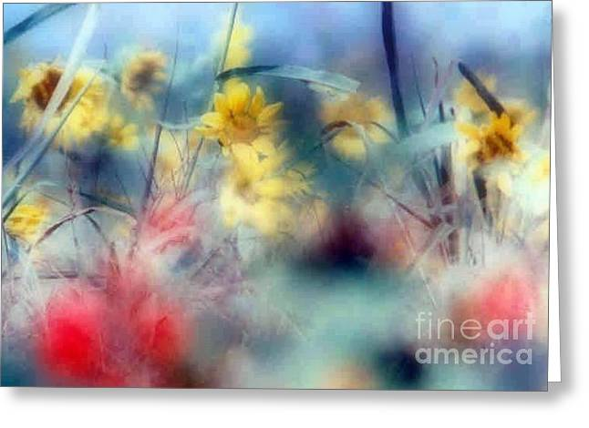 Urban Wildflowers Greeting Card by Michael Hoard