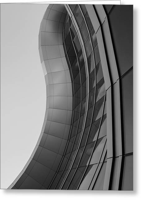 Greeting Card featuring the photograph Urban Work - Abstract Architecture by Steven Milner