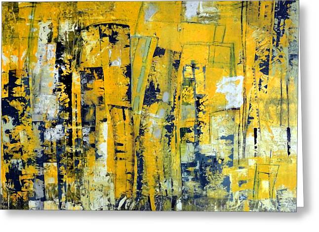 Urban Yellow Greeting Card by Katie Black