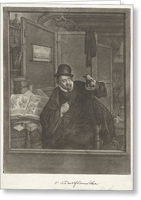Urine Examiner, Doctor, Jan Stolker, Adriaen Van Ostade Greeting Card