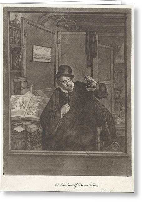 Urine Examiner, Doctor, Jan Stolker, Adriaen Van Ostade Greeting Card