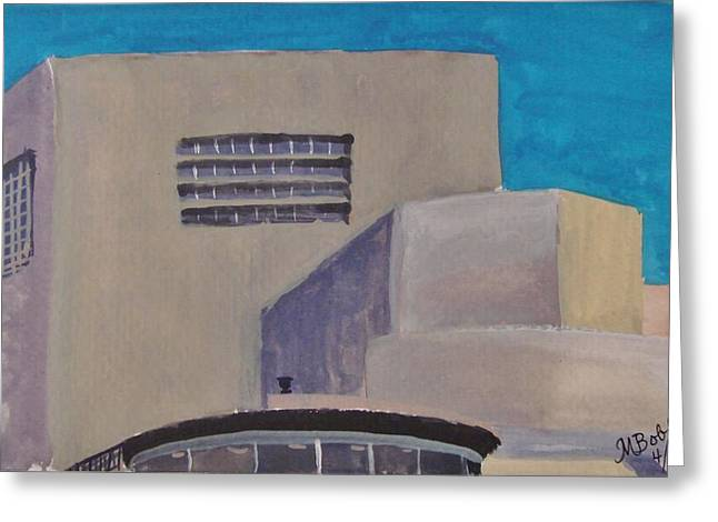 Urn On The Guggenheim Greeting Card by Margaret Bobb