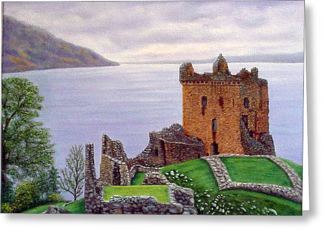 Urquhart Castle Loch Ness Scotland Greeting Card