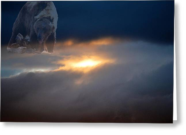 Ursa Major  -  Great Bear Greeting Card by Kevin Bone