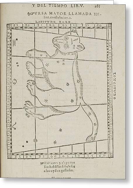 Ursa Major Star Constellation Greeting Card