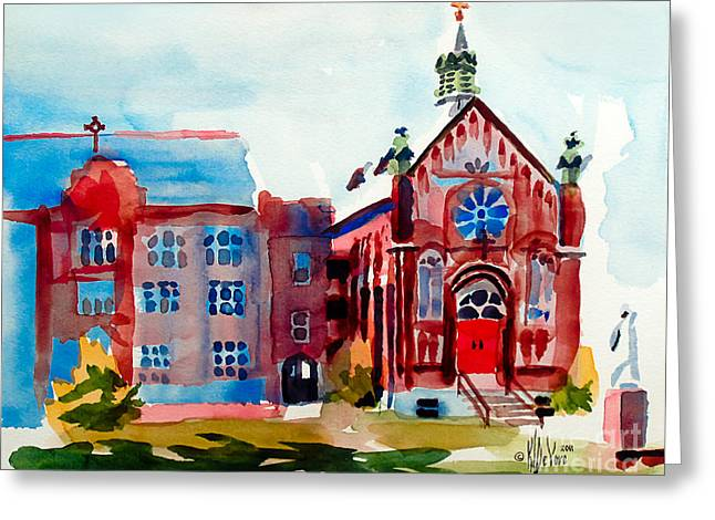Ursuline Academy Arcadia Missouri Greeting Card by Kip DeVore
