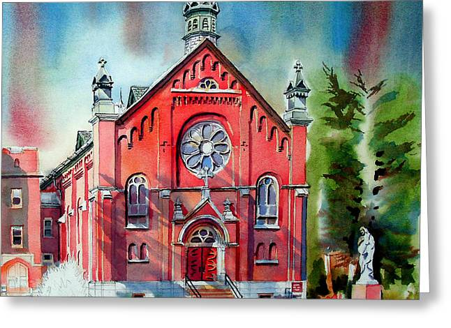 Ursuline Academy Sanctuary Greeting Card by Kip DeVore