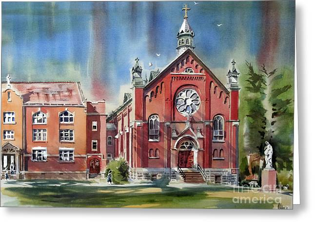 Ursuline Academy With Doves Greeting Card by Kip DeVore