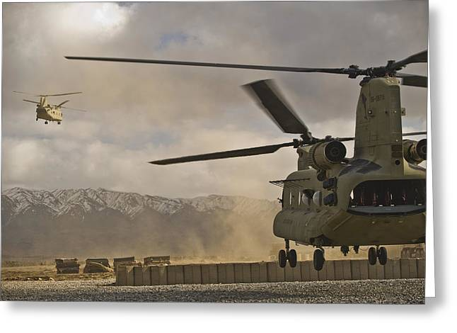 U.s. Army Ch-47 Chinook Helicopters Greeting Card