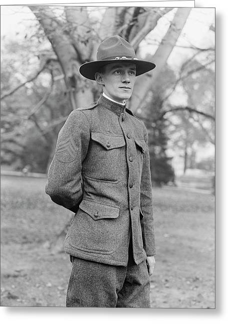 U.s. Army Signal Corps Sergeant, Circa Greeting Card by Stocktrek Images