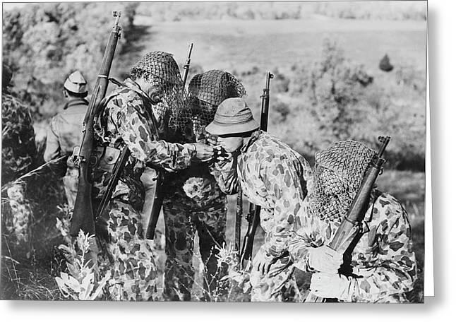 U.s. Army Soldiers Wearing Greeting Card by Stocktrek Images