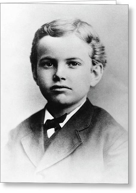 Us Astronomer George Hale As A Boy Greeting Card by Emilio Segre Visual Archives/american Institute Of Physics
