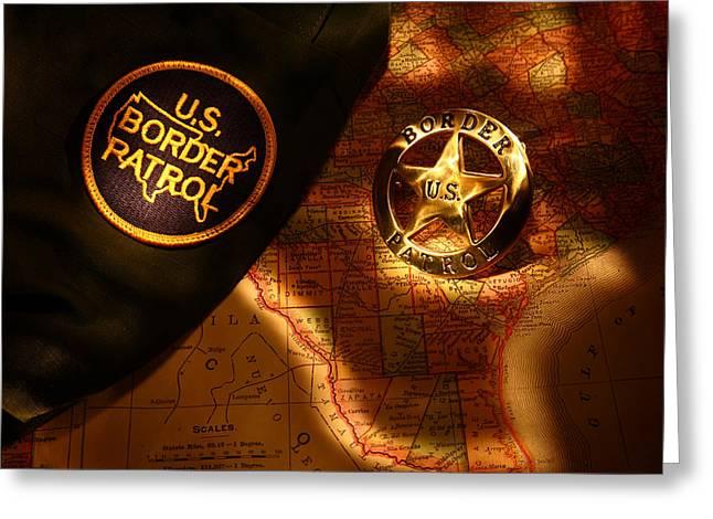 Us Border Patrol Greeting Card by Daniel Alcocer
