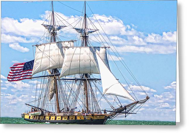 Us Brig Niagara  Greeting Card by Brent Durken