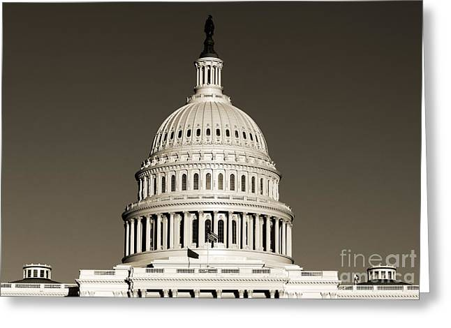 Us Capital Building Dome Greeting Card by Dustin K Ryan