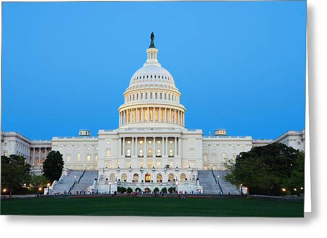 Us Capitol In Washington Dc. Greeting Card
