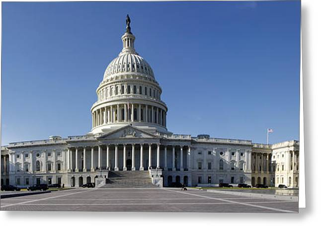 Us Capitol Panorama Greeting Card