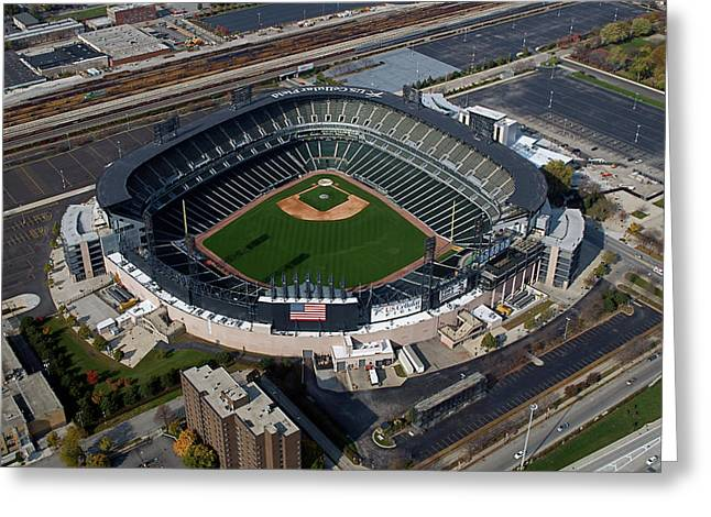 Us Cellular Field Chicago Sports 08 Greeting Card by Thomas Woolworth