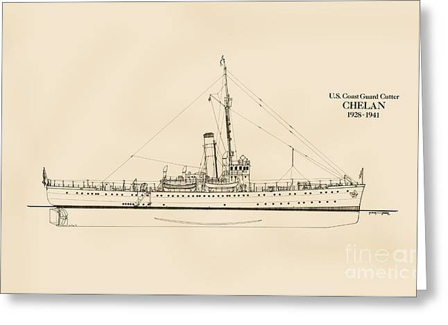 U. S. Coast Guard Cutter Chelan Greeting Card by Jerry McElroy - Public Domain Image