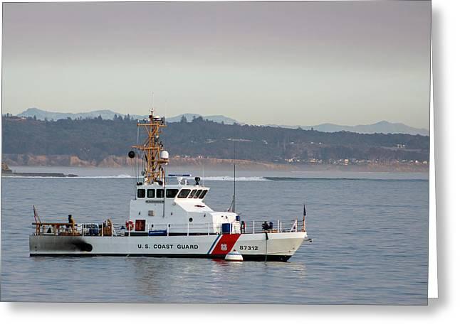 U.s. Coast Guard Cutter - Hawksbill Greeting Card