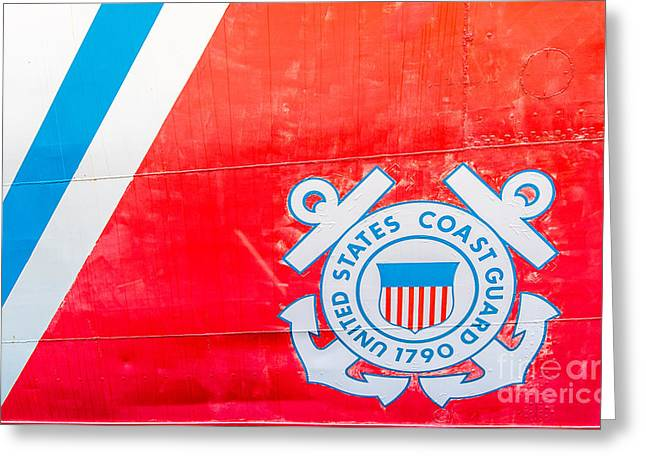 Us Coast Guard Emblem - Uscgc Ingham Whec-35 - Key West - Florida Greeting Card