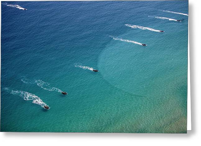 U.s. Marine Amphibious Assault Vehicles Greeting Card by Stocktrek Images