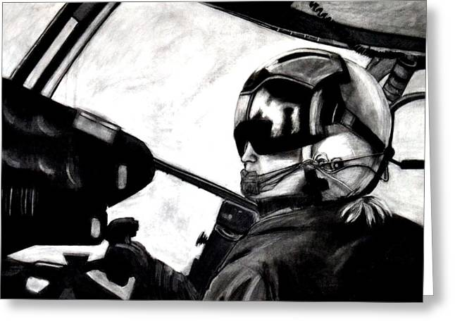 U.s. Marines Helicopter Pilot Greeting Card