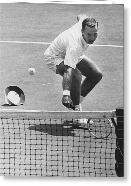 U.s. Mexico Davis Cup Playoffs Greeting Card by Underwood Archives
