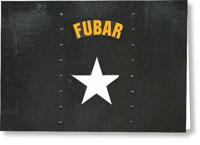 Us Military Fubar Greeting Card by Thomas Woolworth