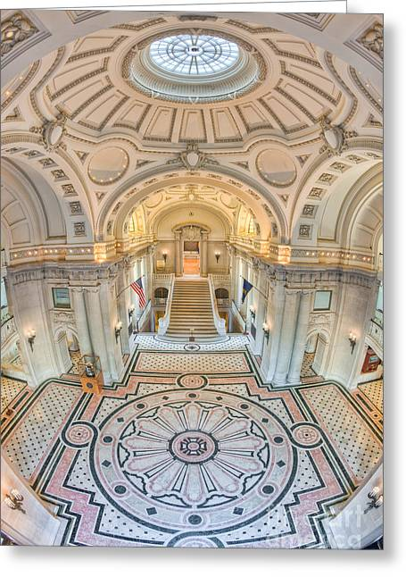 Us Naval Academy Bancroft Hall IIi Greeting Card by Clarence Holmes