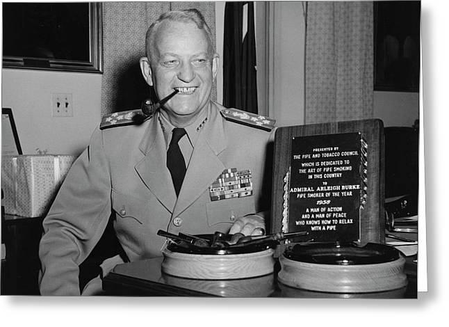 U.s. Navy Admiral Arleigh A. Burke Greeting Card by Stocktrek Images