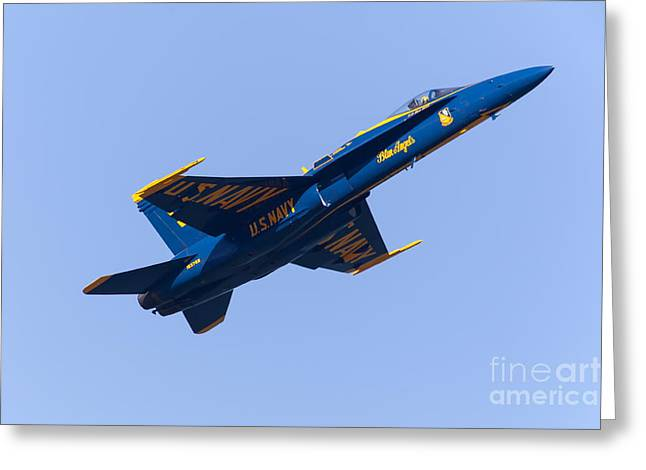 Us Navy Blue Angels F18 Supersonic Jets 5d29658 Greeting Card
